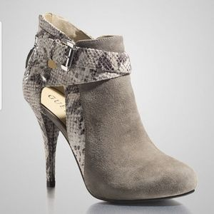 GUESS Suede and Snakeskin Boots